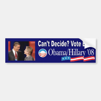 Obama/Clinton '08 Bumper Sticker