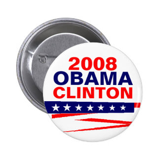 OBAMA-CLINTON 2008 BUTTONS
