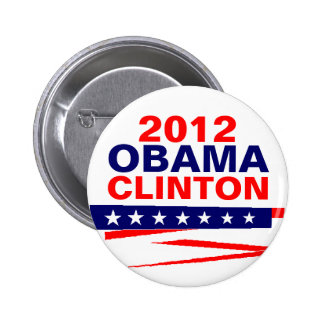OBAMA-CLINTON, 2012 BUTTONS