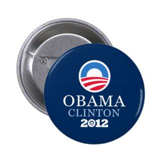 Obama Clinton 2012 Pin