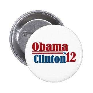 obama clinton 2012 button