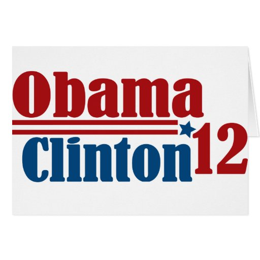 obama clinton 2012 greeting cards