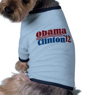 obama clinton 2012 dog shirt