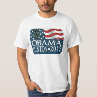 Obama Clinton 2012 Election faded T Shirts