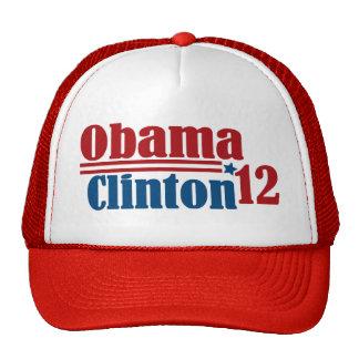 obama clinton 2012 mesh hat