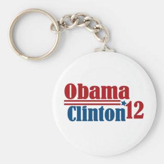 obama clinton 2012 keychain
