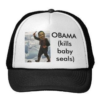 obama clubbing a seal, OBAMA (kills baby seals) Trucker Hat