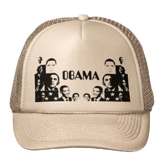 Obama Collage Mesh Hats
