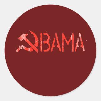 Obama Communism red Faded.png Round Sticker