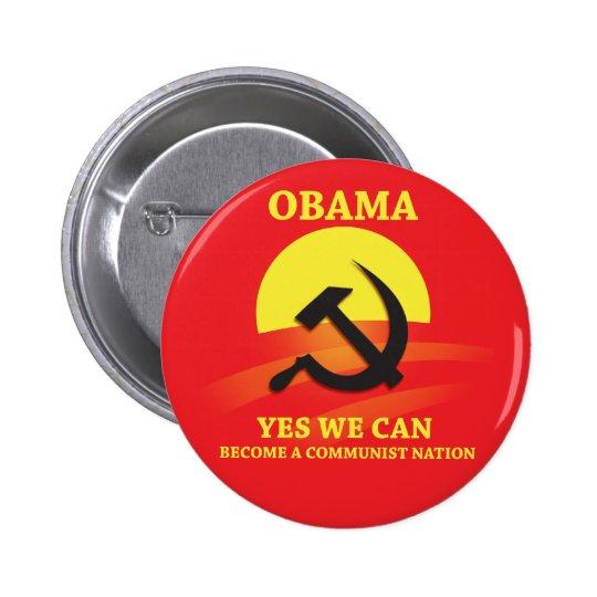 Obama Communist Button