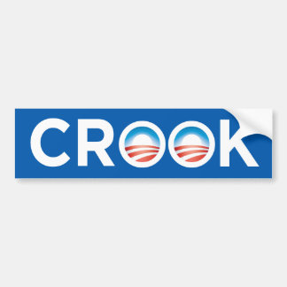 Obama Crook Bumper Sticker