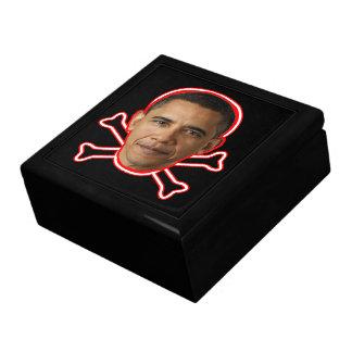 Obama - Danger! Large Square Gift Box