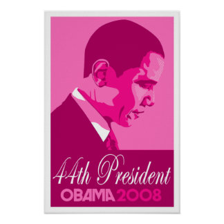 Obama Dark Pink 44th President Poster