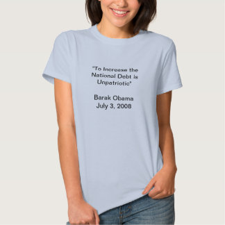 Obama debt quote tee shirts