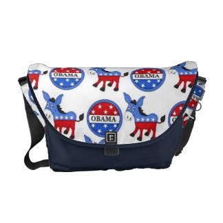 Obama Democrat Symbol Messenger Bag