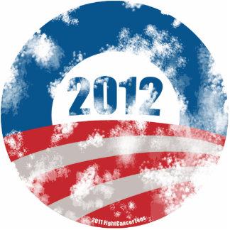 Obama Distressed Symbol Acrylic Cut Out