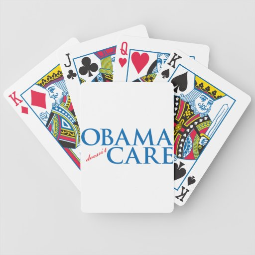 Obama Doesn't Care Bicycle Poker Deck
