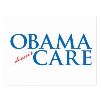 Obama Doesn't Care Postcard
