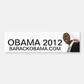 Obama drawing with Obama logo Bumper Sticker