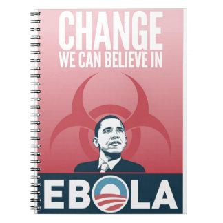 Obama Ebola Spiral Notebooks