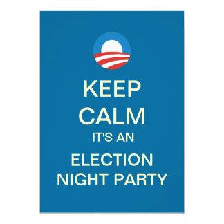 Obama Election Night Party Invitation