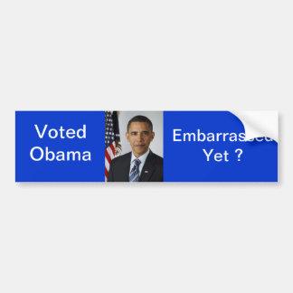 Obama embarrassed bumper sticker car bumper sticker