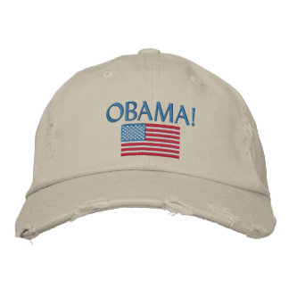 OBAMA EMBROIDERED HATS