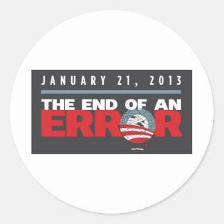 Obama End of an ERROR Round Sticker