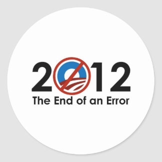 Obama End of an ERROR Stickers