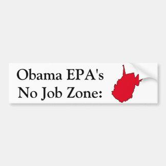 Obama EPA No Job Zone Bumper Stickers