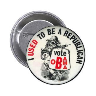 Obama ex-GOP Button