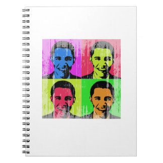 Obama Faded.png Spiral Notebook