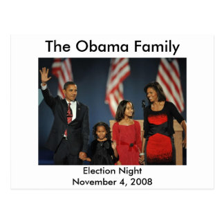 Obama Family Election Night Postcard