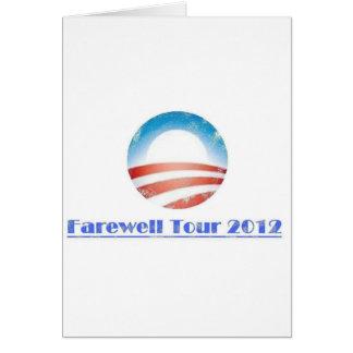 Obama Farewell Tour 2012 Cards