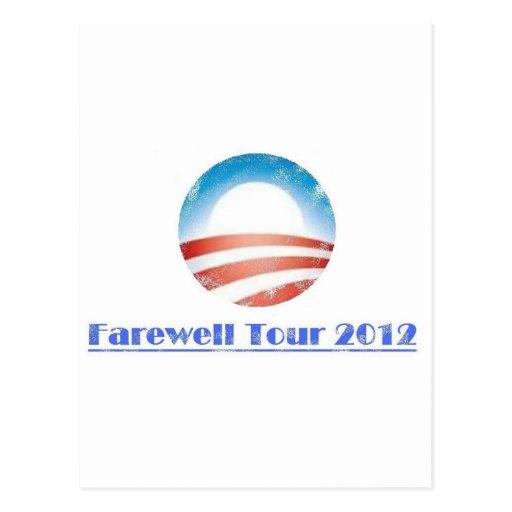 Obama Farewell Tour 2012 Post Cards