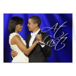 Obama First Dance - At Last Greeting Card