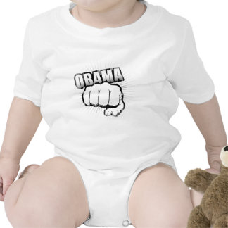 Obama fist bump Vintage.png Baby Bodysuits