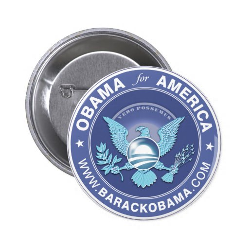 Obama For America Logo Pinback Buttons