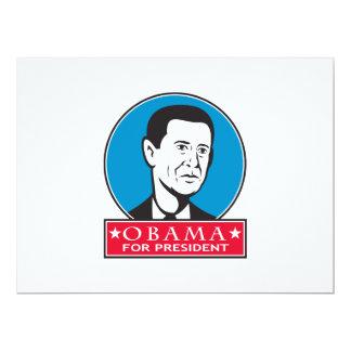 Obama For American President 17 Cm X 22 Cm Invitation Card