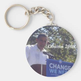 Obama for President 2008 Basic Round Button Key Ring