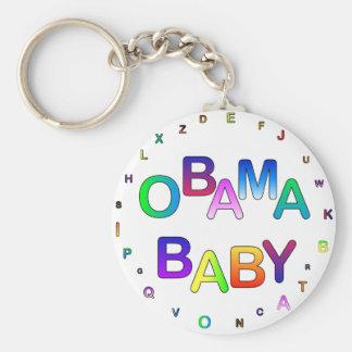 Obama for President, Baby! Basic Round Button Key Ring