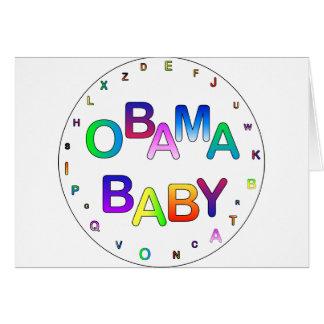 Obama for President, Baby! Card
