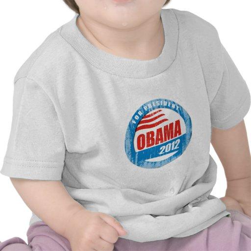 OBAMA FOR PRESIDENT BUTTON Vintage.png Tshirt