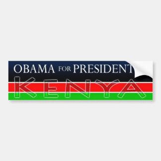 Obama for President of KENYA Bumper Sticker