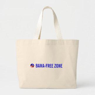 obama-free zone jumbo tote bag