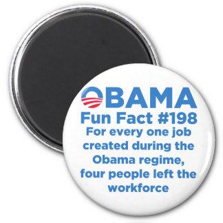 Obama Fun Facts 6 Cm Round Magnet