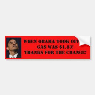 Obama Gas Price Bumpersticker Bumper Sticker