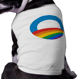 Obama Gay Pride Sleeveless Dog Shirt
