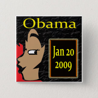 Obama Girl, Inauguration T-Shirts and Gifts! 15 Cm Square Badge