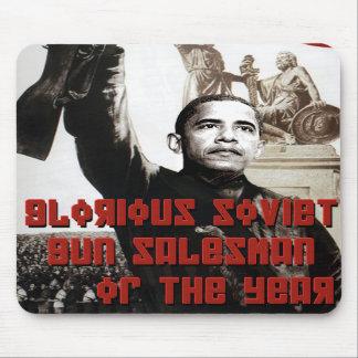 Obama: Glorious Soviet Gun Salesman of the Year Mousepad